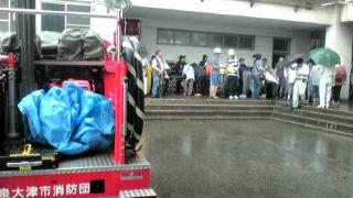 津波非難訓練と防災講演会