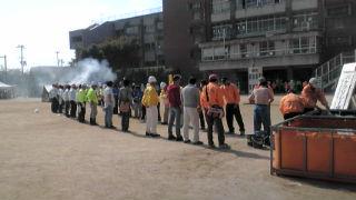 泉大津市の総合防災訓練が、条南小で行われました!