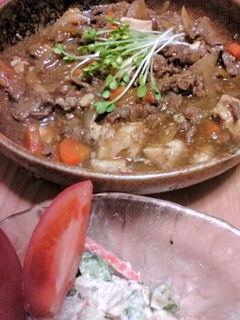 肉豆腐とかいわれ栽培(^o^)