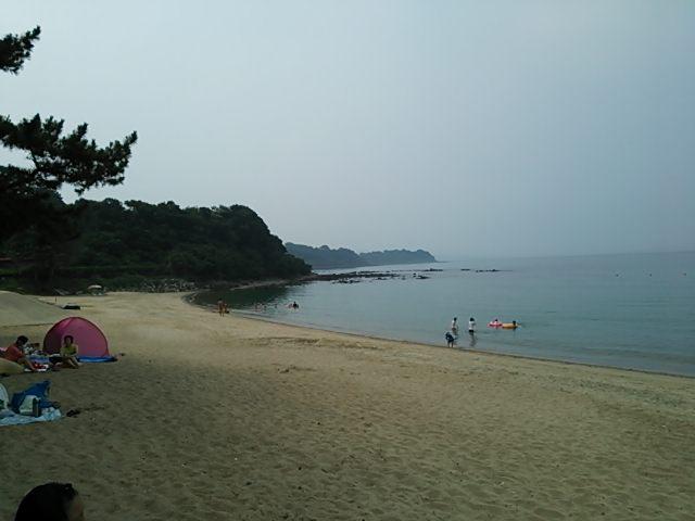 恒例の口之津の海へ!