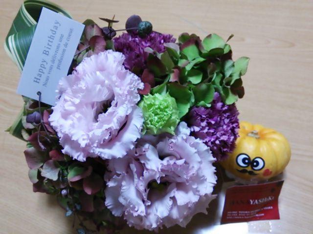 花屋四季さんのお花とマームタマのケーキで誕生日会♪