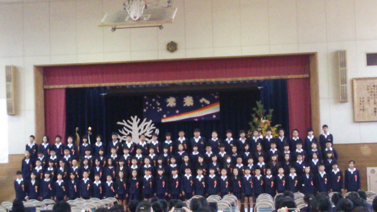 今日は卒業式…泉大津市立楠小学校
