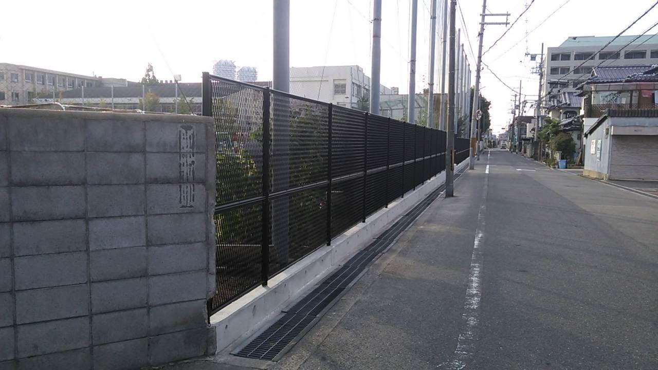 東陽中学の塀が改善されました♪