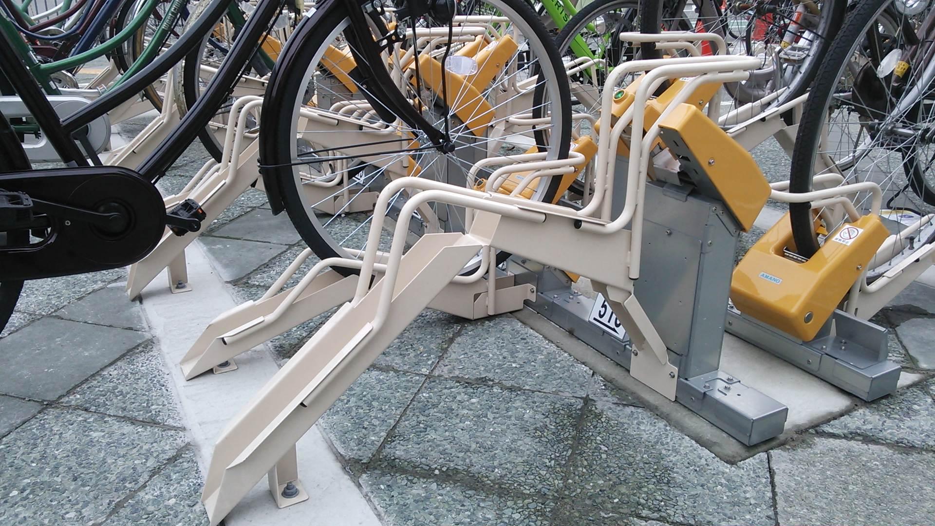 駅前の放置自転車は3月1日からは撤去されます。