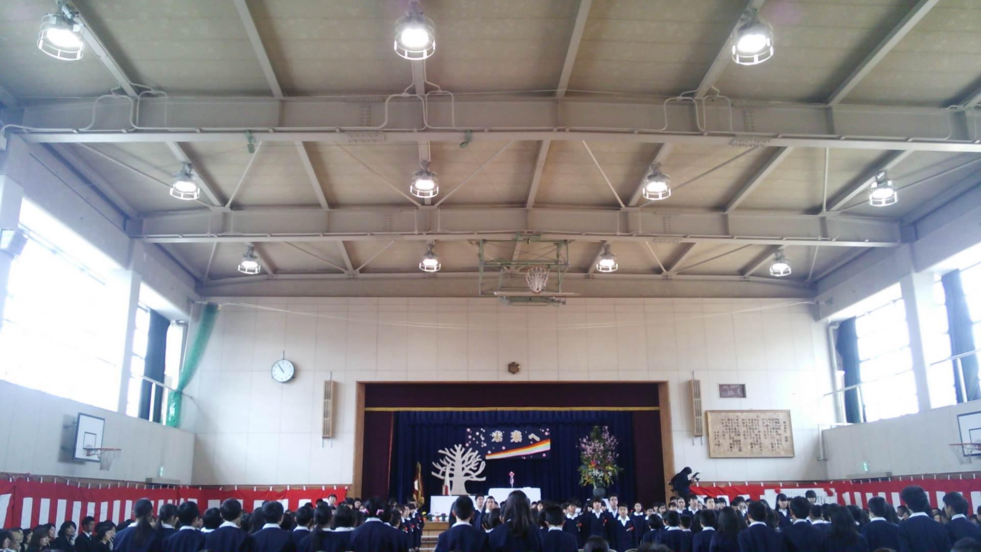 楠小学校の卒業式に、今日で市議会が閉会…