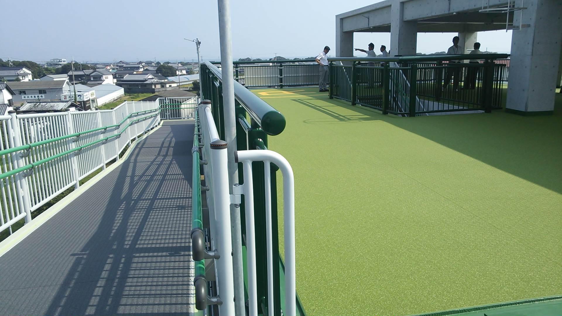 津波避難タワーを見学!