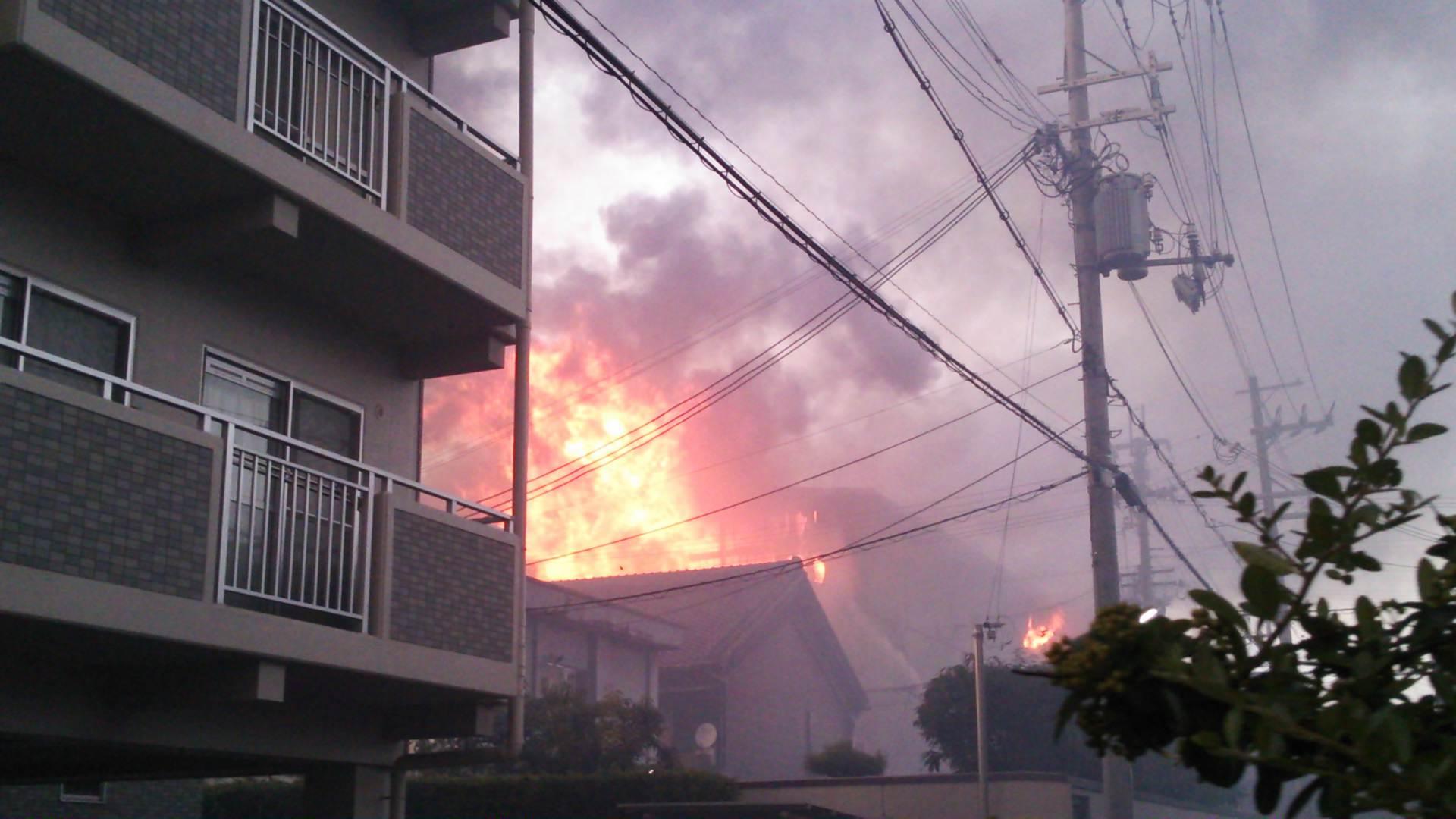 泉大津駅近くの工場火災について…