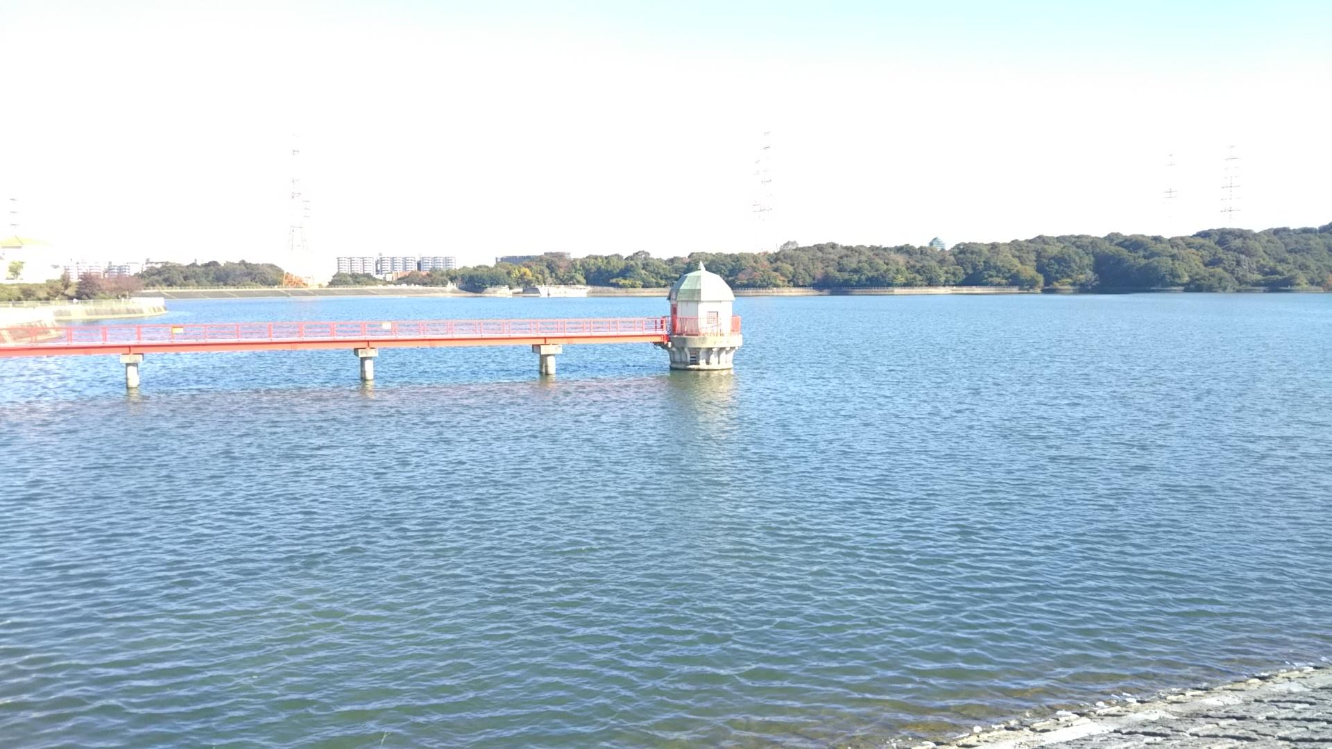 泉北水道と光明池を視察
